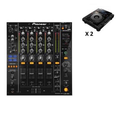 PIONEER DJ PACK DJM850 BLACK + 2X CDJ-900NXS
