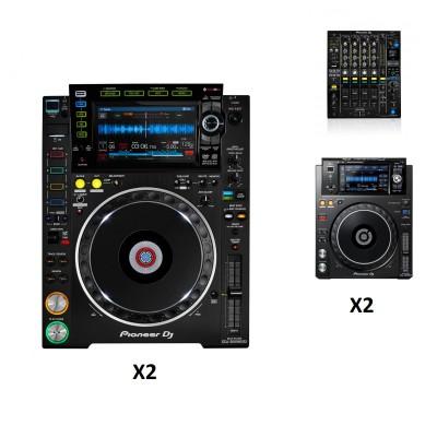 PIONEER DJ DJM-900NXS2 + 2X CDJ-2000NXS2 + 2X XDJ-1000MK2