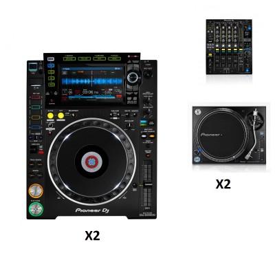 PIONEER DJ DJM-900NXS2 + 2X CDJ-2000NXS2 + PLX-1000 x2