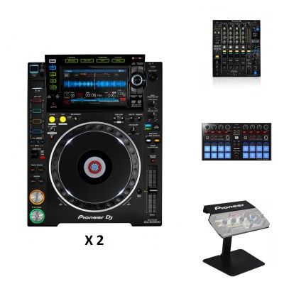 PIONEER DJ DJM-900NXS2 + 2x CDJ-2000NXS2 + DDJ-SP1 + PRODJ-RMX-STAND