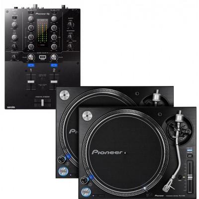 PIONEER DJ DJM-S3 + 2X PLX-1000