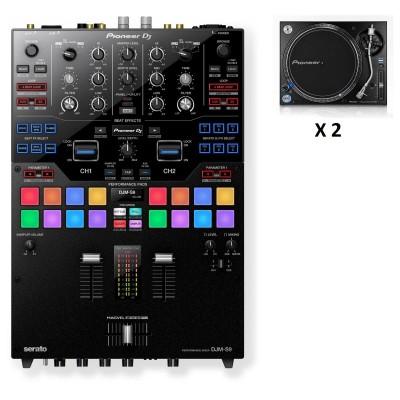 PIONEER DJ DJM-S9 + 2X PLX-1000
