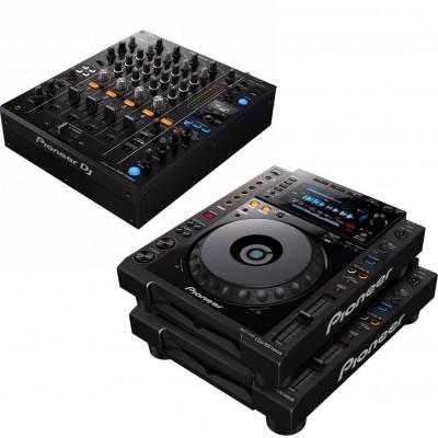 PIONEER DJ DJM750MK2 BLACK + 2X CDJ-900NXS