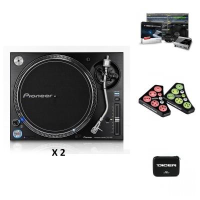 PIONEER DJ 2 X PLX-1000 + DICER + DICER CASE + TRAKTOR SCRATCH 6
