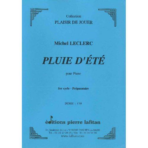 LAFITAN LECLERC MICHEL - PLUIE D'ETE - PIANO