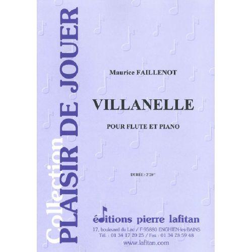 LAFITAN FAILLENOT M. - VILLANELLE - FLUTE ET PIANO