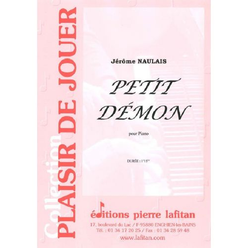 LAFITAN NAULAIS JEROME - PETIT DEMON - PIANO