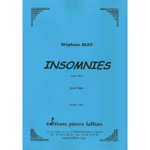 LAFITAN BLET STEPHANE - INSOMNIES - PIANO