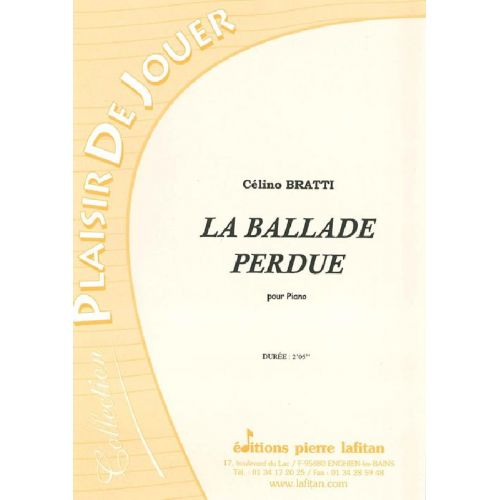 LAFITAN BRATTI CELINO - LA BALLADE PERDUE - PIANO
