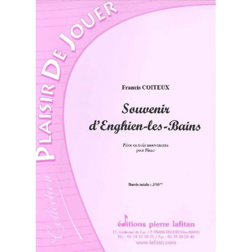 LAFITAN COITEUX FRANCIS - SOUVENIR D'ENGHIEN-LES-BAINS - PIANO