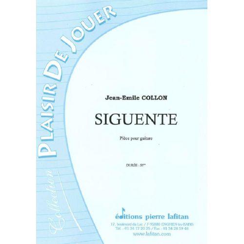 LAFITAN COLLON JEAN-EMILE - SIGUENTE - GUITARE