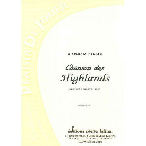 LAFITAN CARLIN ALEXANDRE - CHANSON DES HIGHLANDS - COR D'HARMONIE ET PIANO