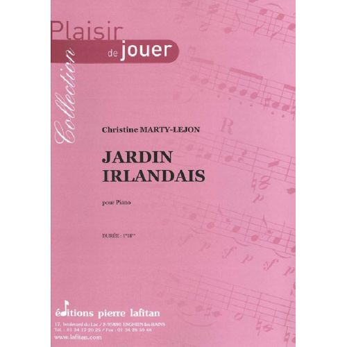 LAFITAN MARTY-LEJON CHRISTINE - JARDIN IRLANDAIS - PIANO