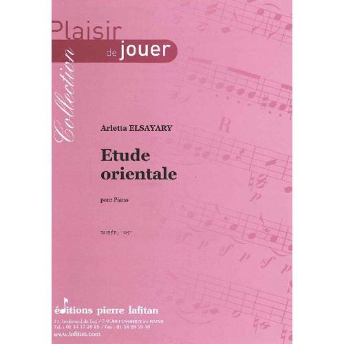 LAFITAN ELSAYARY ARLETTA - ETUDE ORIENTALE - PIANO