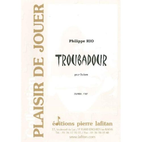 LAFITAN RIO PHILIPPE - TROUBADOUR - GUITARE