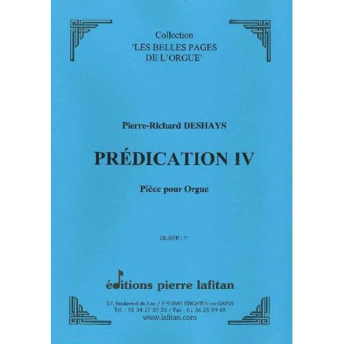 LAFITAN DESHAYS PIERRE-RICHARD - PREDICATION IV - ORGUE