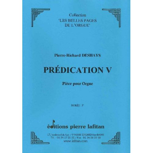 LAFITAN DESHAYS PIERRE-RICHARD - PREDICATION V - ORGUE