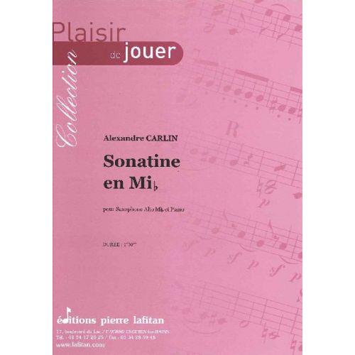 LAFITAN CARLIN ALEXANDRE - SONATINE EN MIB - SAXOPHONE ALTO ET PIANO