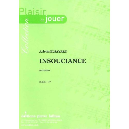 LAFITAN ELSAYARY ARLETTA - INSOUCIANCE - PIANO