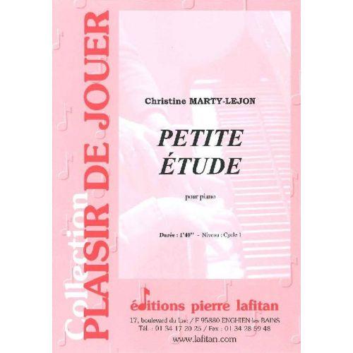 LAFITAN MARTY-LEJON CHRISTINE - PETITE ETUDE - PIANO