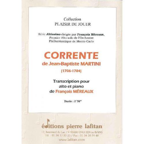 LAFITAN MARTINI J.-B. - CORRENTE - ALTO ET PIANO