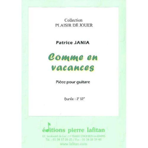 LAFITAN JANIA PATRICE - COMME EN VACANCES - GUITARE
