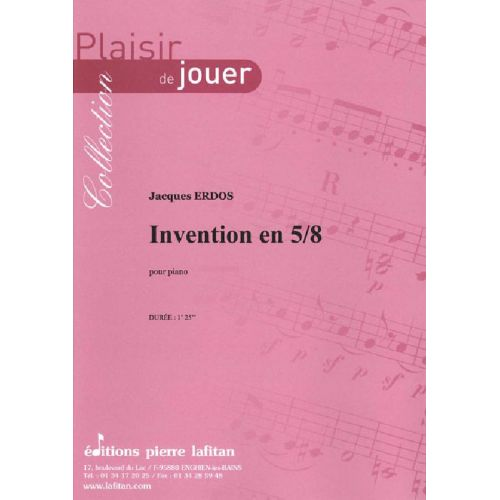 LAFITAN ERDOS JACQUES - INVENTION EN 5/8 - PIANO