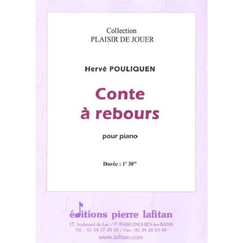 LAFITAN POULIQUEN HERVE - CONTE A REBOURS - PIANO