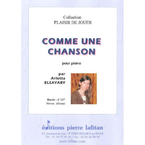 LAFITAN ELSAYARY ARLETTA - COMME UNE CHANSON - PIANO