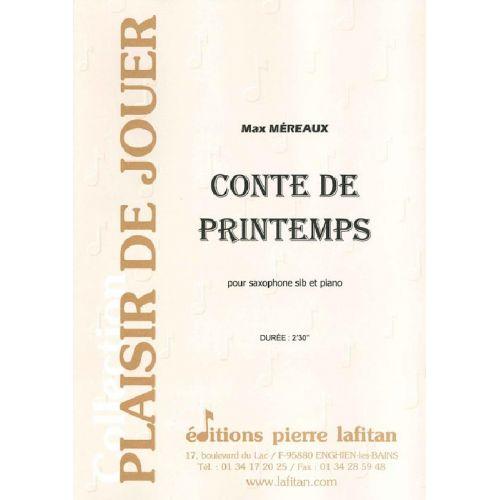 LAFITAN MEREAUX MAX - CONTE DE PRINTEMPS - SAXOPHONE SIB ET PIANO