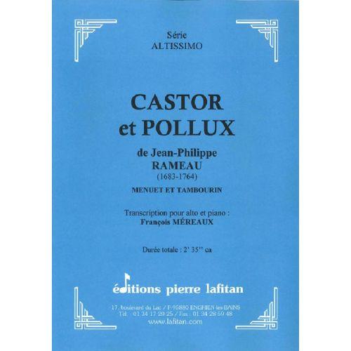 LAFITAN RAMEAU J.-PH. - CASTOR ET POLLUX - ALTO ET PIANO
