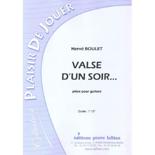 LAFITAN BOULET HERVE - VALSE D'UN SOIR... - GUITARE