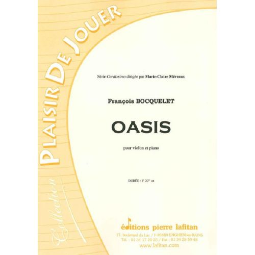 LAFITAN BOCQUELET FRANCOIS - OASIS - VIOLON ET PIANO