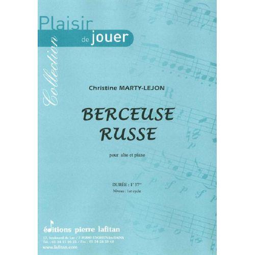 LAFITAN MARTY-LEJON CHRISTINE - BERCEUSE RUSSE - ALTO ET PIANO