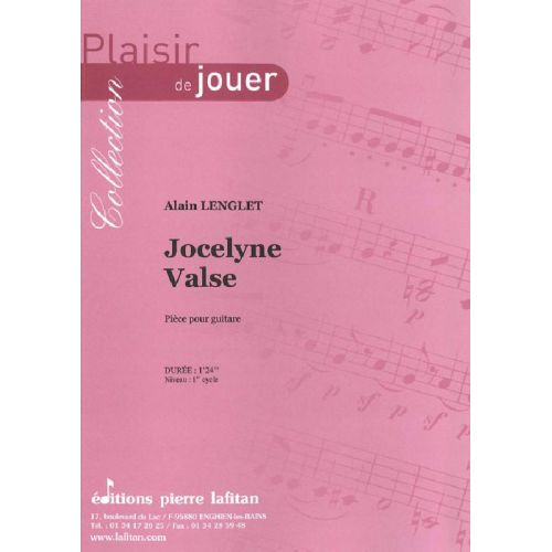 LAFITAN LENGLET ALAIN - JOCELYNE VALSE - GUITARE