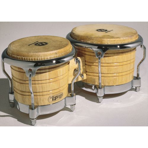 LP LATIN PERCUSSION LP201AX-2 - BONGOS GENERATION II - NATURAL - (CHROME HARDWARE)
