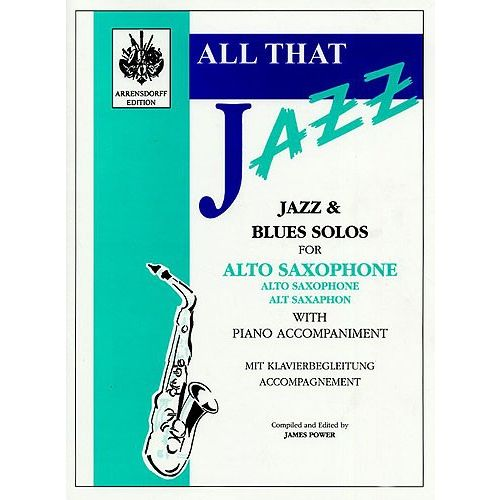 MUSIC SALES ALL THAT JAZZ - JAZZ AND BLUES SOLO FOR ALTO SAXOPHONE