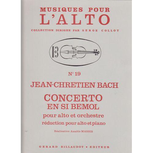 BILLAUDOT BACH J. CH. - CONCERTO EN SI BEMOL - ALTO ET PIANO