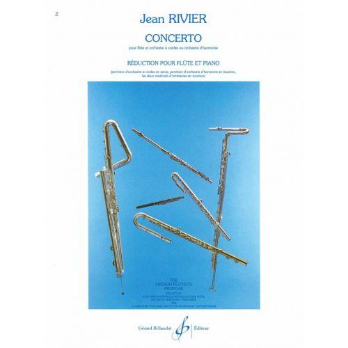 BILLAUDOT RIVIER JEAN - CONCERTO POUR FLUTE