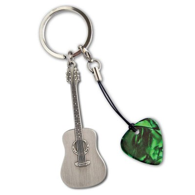 GROVER ALLMAN METAL GUITAR KEYRING ACOUSTIC