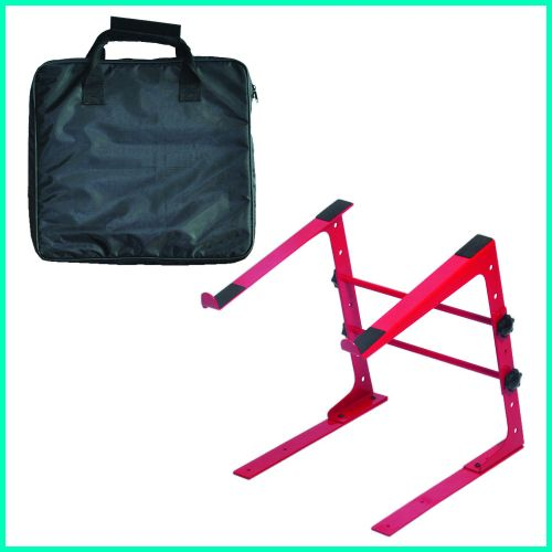 POWER ACOUSTICS DJ STAND RED + BAG