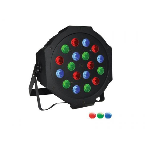 POWER LIGHTING PAR SLIM 18x3W RGB BAT