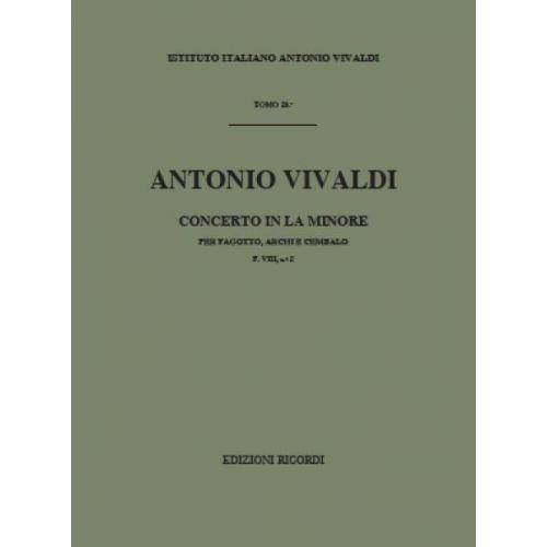 RICORDI VIVALDI A. - CONCERTO IN LA MIN. RV 498 - F.VIII/2 - BASSON
