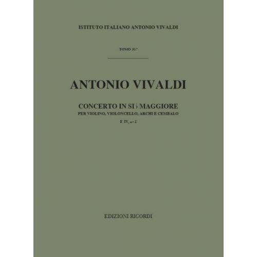 RICORDI VIVALDI A. - CONCERTO IN SI BEM. RV 547 - VIOLON