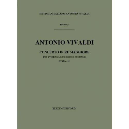 RICORDI VIVALDI A. - CONCERTI IN RE RV 93 VIOLON