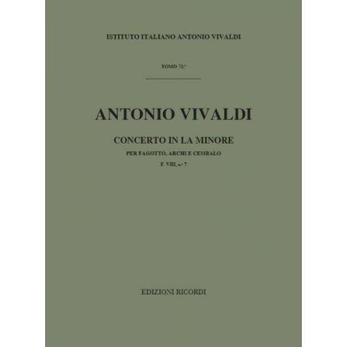 RICORDI VIVALDI A. - CONCERTI IN LA MIN. RV 497 - BASSON