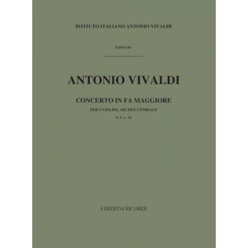 RICORDI VIVALDI A. - CONCERTI IN FA RV 551 - VIOLONS