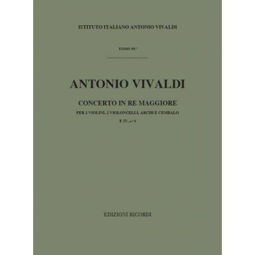 RICORDI VIVALDI A. - CONCERTOIN RE RV 564 F.IV/4 - VIOLON