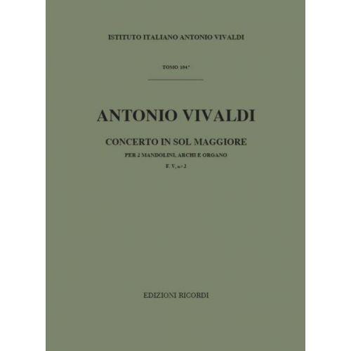 RICORDI VIVALDI A. - CONCERTO IN SOL - MANDOLINE