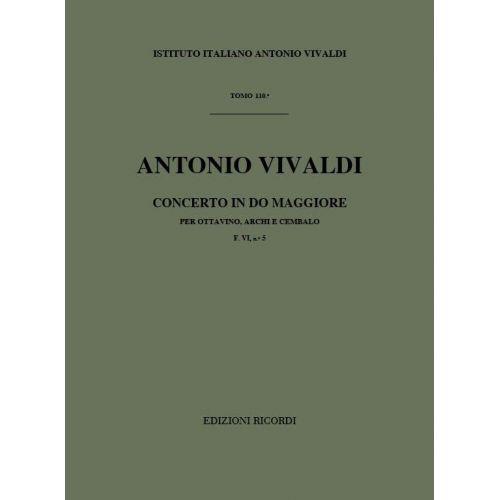 RICORDI VIVALDI A. - CONC. PER OTTAVINO (FLAUTINO), ARCHI E B.C. F VI/5 (RV 444) - CONDUCTEUR